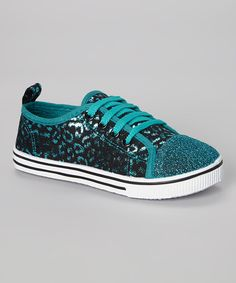 Look at this Chatties Turquoise Leopard Sneaker on #zulily today!