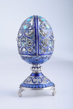 silver and blue swirl egg - Google Search