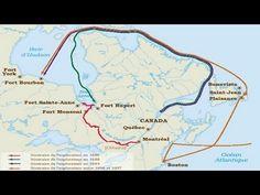 Les postes de traite en Nouvelle-France vers 1645 - YouTube