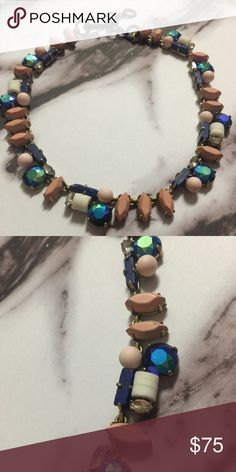 J crew statement necklace This is a beautiful necklace, with all different kind of stones, some iridescent, some stones show light distressing but that is the style. Multiple lengths J. Crew Jewelry Necklaces