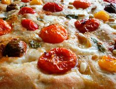 Heirloom Tomato and Mozzarella Focaccia