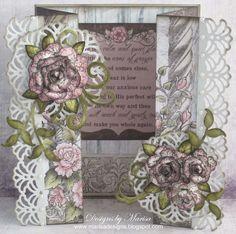 Designs by Marisa: Heartfelt Creations Wednesday - Birthday Double Z-Fold Card
