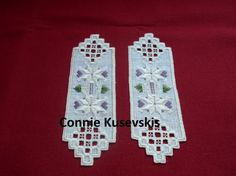 Hardanger Bookmarks - stitchin fingers