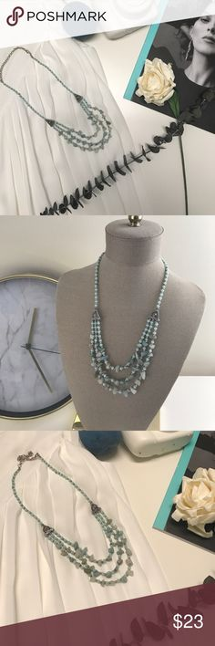 NEW!!! Layered Gemstone necklace Handmade crystal beaded necklace Jewelry Necklaces