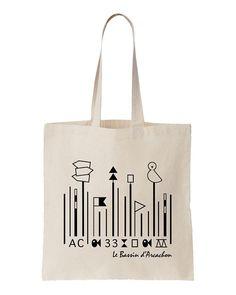 Tote Bag Souvenir du Bassin d'Arcachon