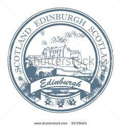 Edinburgh Passport Stamp   Grunge rubber stamp with words Edinburgh, Scotland inside, vector ...