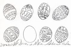 easter egg coloring pages hard