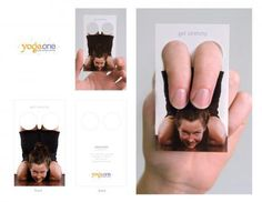 ¡Originalísima tarjeta de visita de un centro de Yoga!