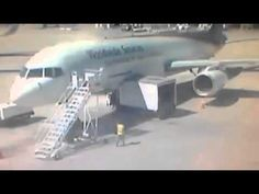 UPS AC Plane and Truck Crash / Captured By Security Camera  / April 2014