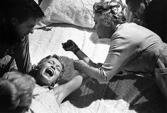 Rosemary being held down by coven, 'Rosemary's Baby', 1968 Robert Evans, Arnold Schwarzenegger, Rosemary's Baby, Baby Birth, John Cassavetes, Creeped Out, Audio Latino, Guy, Mia Farrow