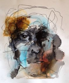 Deb Weiers - Man 4 Abstract Portrait, Portrait Art, Charcoal Artists, Face Art, Art Faces, Modern Portraits, Found Art, Whimsical Art, Drawing People