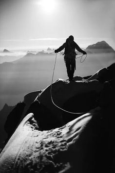 Walking on mountain tops