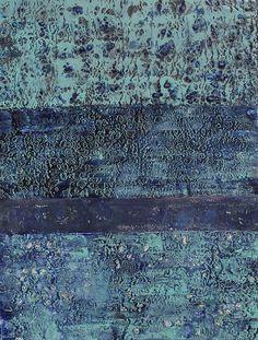 Encaustic Art - hot wax & mixed media, textured painting in lush blue green tones // Helen DeRamus Wax Art, Encaustic Painting, Art For Art Sake, Texture Painting, Acrylic Art, Painting Techniques, Painting Inspiration, Collage Art, Printmaking