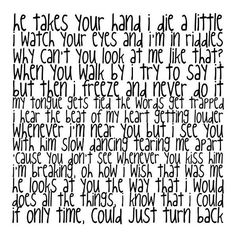 cuz i've got three little words that i've always been dying to tell you... <3 I Wish