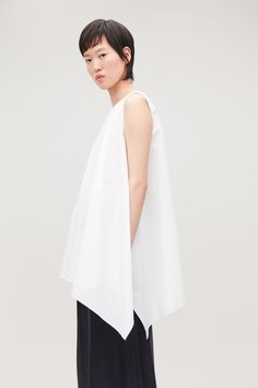 ASYMMETRIC COTTON TOP - White - Tops - COS Wardrobe Sale, Small Wardrobe, Shabby Look, White Shirts, White Tops, New Product, How To Look Better, Personal Style, Pure Products