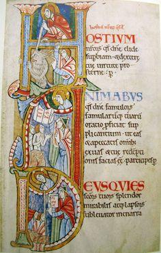 sta albans psalter | ... aus dem Albani-Psalter St. Albans, um 1130-1135 Inv. Nr. M 694