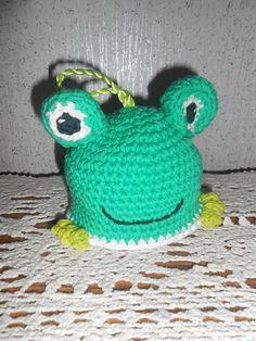 4ee8a68456e Handmade crochet Freddie the Frog bath Scrubby