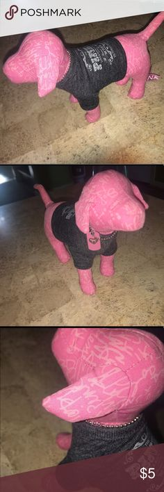 Victoria's Secret Pink Rock & Roll Dog Pre owned vs pink dog with rock & roll tshirt .. some small flaws PINK Victoria's Secret Other
