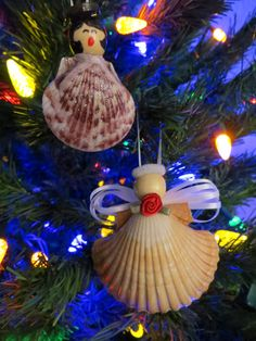 Easy Christmas Ornaments: Seashell Angels and Carolers