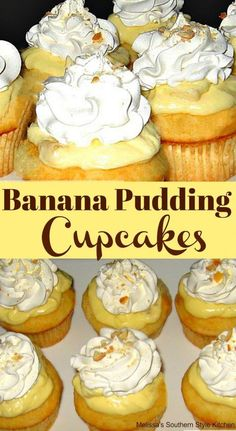 Cupcake recipes 502784745894028672 - Banana Pudding Cupcakes Source by showmetheyummy Banana Pudding Cupcakes, Banana Pudding Recipes, Vanilla Cupcakes, Mocha Cupcakes, Vanilla Cake, Strawberry Cupcakes, Velvet Cupcakes, Banana Cupcakes With Cake Mix, Baked Banana Pudding