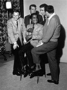 RAT PACK ~Frank Sinatra, Dean Martin, Sammy Davis, Jr., Peter Lawford, and Joey Bishop.