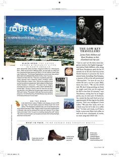 The Minimalists discuss minimalist travel in ELLE Man Magazine.