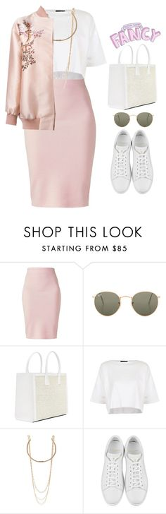 """A look with pink eyelids"" by melanie-pacheco ❤ liked on Polyvore featuring Winser London, Ray-Ban, Topshop, Marc Jacobs, Yves Saint Laurent and STELLA McCARTNEY"