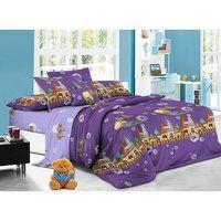 """Комплект полуторного постельного белья """"Волшебный сон"""", цвет: фиолетовый"""