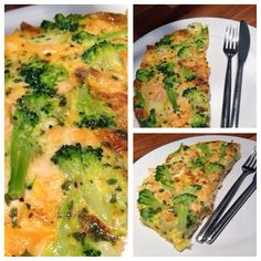 Salmon, broccoli and new potato omelette. Gorgeous and great way to start the morning! Slimming world - free on extra easy :)