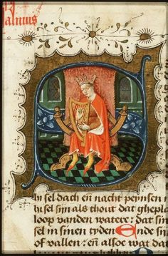 History Bible (Psalter and New Testament) Place of origin, date: Utrecht, Gerard Wesselz. van Deventer (scribe), Master of The Hague, KB, 69 B 10 (illuminator); 1443 - Pinterest
