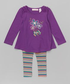 Look at this Purple Floral Tunic