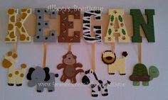 6 LETTER NAME Custom Jungle Zoo Safari Themed por AlbonsBoutique