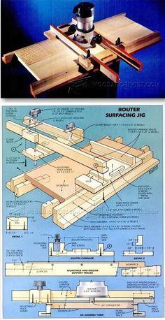 Router Surfacing Jig - Router Tips, Jigs and Fixtures | http://WoodArchivist.com