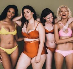 Each woman looks confident in her own skin, demonstrating that there's nothing to be ashamed of—we're all human, after all—and it's these physical differences that make us beautiful.