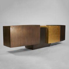 Gary Magakis Blackened Gilt Steel and Bronze Console - Todd Merrill