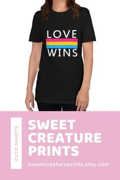 Love Wins. Show off your pan pride with this lgbt pansexual shirt! Let the world know you are pan and you are proud of your sexuality! Click through to grab yours. #pansexual #lgbt