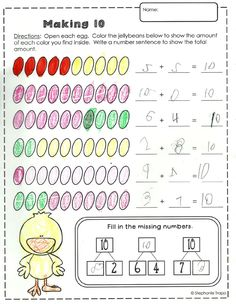 K-1 Easter Math Activities that are perfect for centers, early finishers, review, or just to add a little fun into your day!  Common Core aligned.