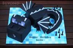 Minecraft Ender Dragon - Cake by beyondthefrosting - CakesDecor