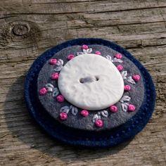 Simira - Brož s keramikou - crochetka