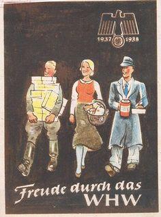 "German WW2  ""Joy through the WHW"" (Winterhilfswerk, the NS Winter aid organisation)"