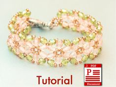 Tutorial Flowers of Spring DIY Beading bracelet PDF by CallOfEarth, $10.00