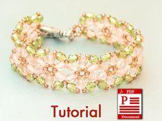 Tutorial Flowers of Spring DIY Beading bracelet PDF by CallOfEarth, $10.00