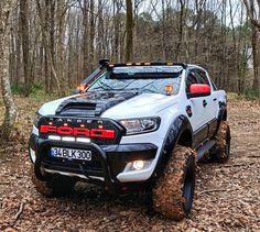 Ford Raptor Truck, Ford Pickup Trucks, Toyota Trucks, Dodge Trucks, Ford Ranger Modified, 4x4 Ford Ranger, Ranger Truck, Ford F150 Custom, Badass Jeep