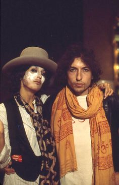 Bob Dylan and Joan Baez on The Rolling Thunder Revue.