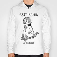 Hands down, he had the best board on the block.  Hoody by Michael C. Hsiung - $42.00