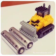 Cute nanoblock Bulldozer ... http://fb.inanoblock.com for more