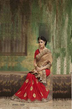 Latest Indian Less Patti Embroidered Saree
