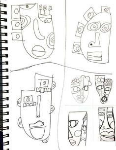 Masks In the Making, sketches for ideas by artist and sculptor Kimmy Cantrell. Kimmy Cantrell, Karton Design, Art Picasso, Classe D'art, 5th Grade Art, Cardboard Art, Art Lessons Elementary, Arte Pop, Middle School Art