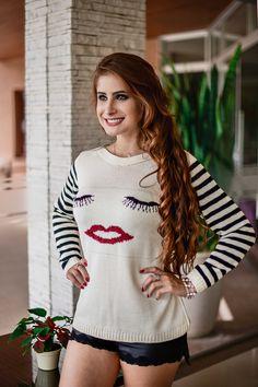 506935426a Moda Tricot 2018 · Blusa Cílios!  blusa  tricot  modajovem  modatricot   chique  blogueira