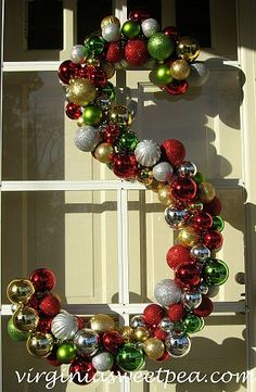 Giant monogram ornament covered wreath